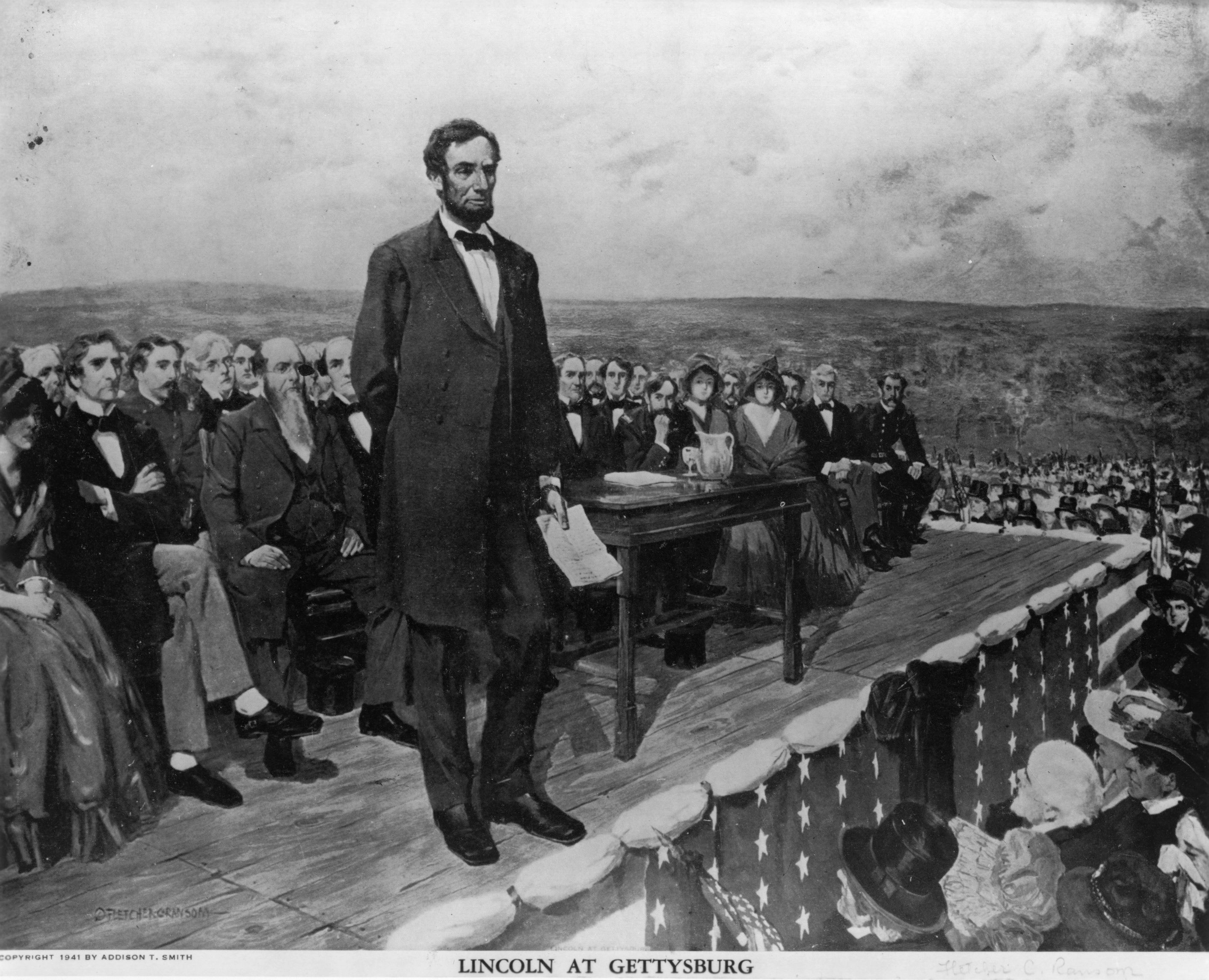 abraham lincoln subsequently speech and toast gettysburg